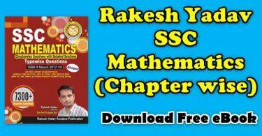 Rakesh Yadav Mathmatics (Chapterwise) Full Book PDF
