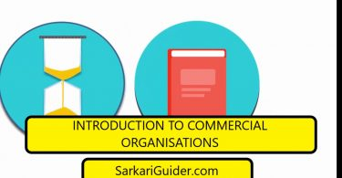 INTRODUCTION TO COMMERCIAL ORGANISATIONS