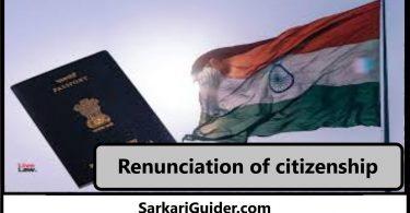 Renunciation of citizenship