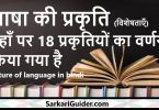 भाषा की प्रकृति