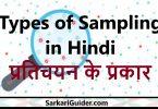 Types of Sampling in Hindi