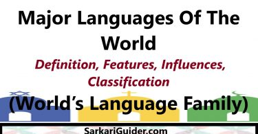 Major Languages Of The World