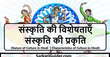 संस्कृति की विशेषताएँ